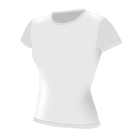 t-shirt women white Vector