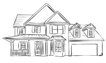 house village long Vector