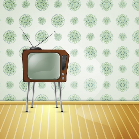retro tv light Vector