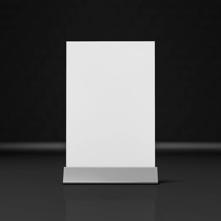 talker: Table Tent isolated on black background. 3D rendering