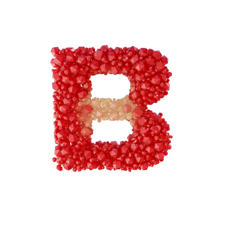 diamond letters: Super realistic 3d rendering of alphabet with crystal