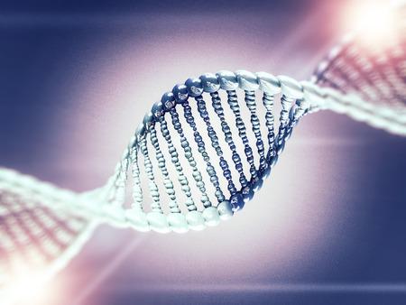 Digital illustration of a DNA model on science background. 3D rendering Standard-Bild