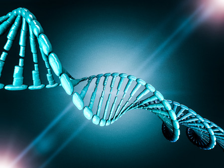 Digital illustration of a DNA model on science background. 3D rendering Stock Photo