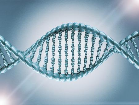 Digital illustration of a DNA model on science background. 3D rendering Stock Photo