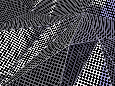 grey background texture: Carbon abstract dotted dark background concept. 3D rendering Stock Photo