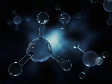 methane: Methane Molecule Image. 3D rendering