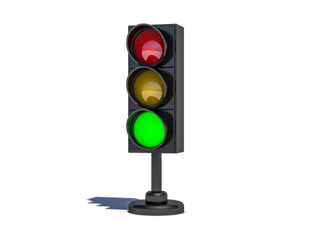 Isolated traffic light. 3D rendering Reklamní fotografie