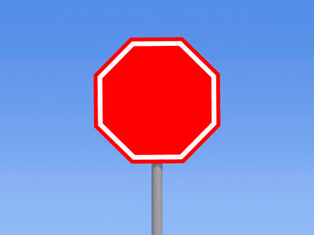 High resolution road sign for art work. 3D rendering