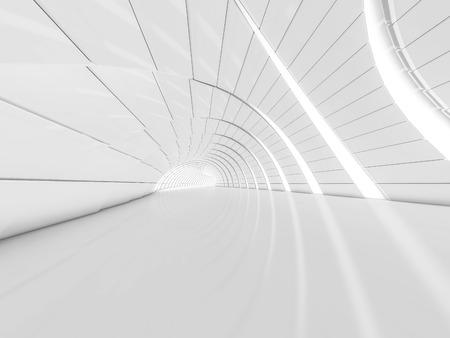 Einfacher leerer Rauminnenraum mit Lampen. 3D-Rendering Standard-Bild - 79526789