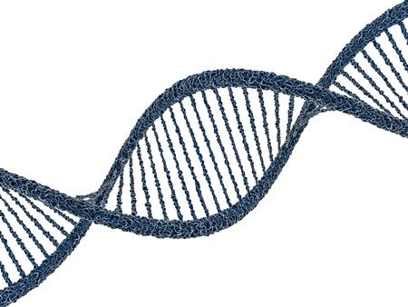 genom: Digital illustration of a DNA model on science background. 3D rendering Stock Photo