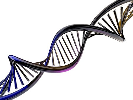 Digital illustration of a DNA model. 3D rendering