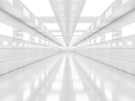 luxury apartment: Abstract modern architecture background, empty white open space interior. 3D rendering Stock Photo