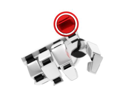 Concept of a robotic mechanical arm. 3D rendering Foto de archivo