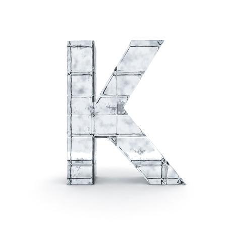 Alphabet made out of ice. 3D rendering Reklamní fotografie - 84492315