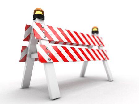 Under construction illustration. 3D rendering