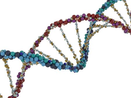 DNA chain. Abstract scientific background. Beautiful illustraion. Biotechnology, biochemistry, genetics and medicine concept .3D rendering 写真素材