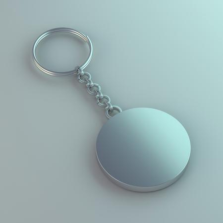 Bijou en métal vierge. Rendu 3D de maquette