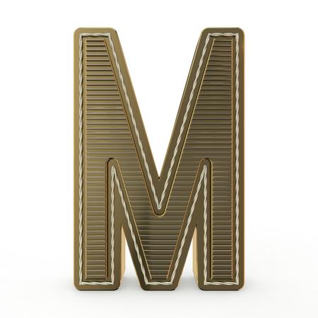 Simbolo dorato dell'alfabeto. Lettera. Rendering 3D
