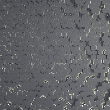 Abstract futuristic technological hexagonal background. 3D rendering 版權商用圖片