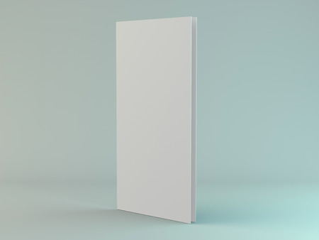 Blank portrait mock-up paper. Brochure, magazine, postcard isolated. 3D rendering 写真素材