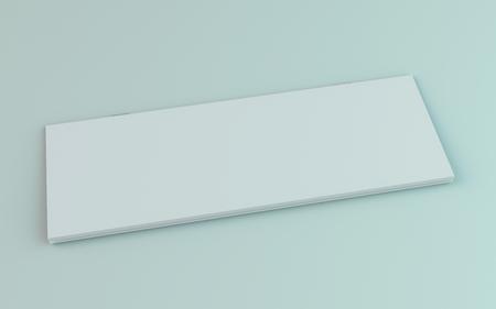 Blank brochure, magazine, booklet mockup isolated on white background. 3D rendering 版權商用圖片