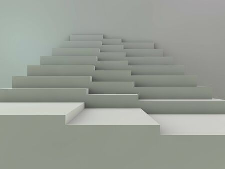 Stairs. Abstract steps. Stairs in the city. Granite stairs. Wide stone stairs. 3D rendering.