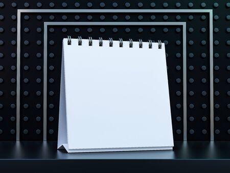 Empty desk calendar. Mockup design luxury concept. 3D rendering Imagens
