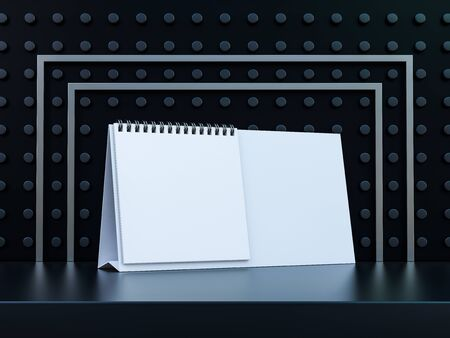 Empty desk calendar. Mockup design luxury concept. 3D rendering Stock fotó