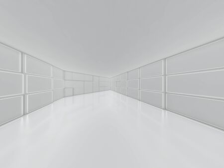 Abstract modern architecture background, empty open space interior. 3D rendering 写真素材