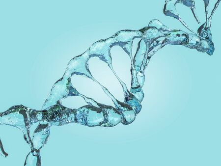 DNA chain. Abstract scientific background. Beautiful illustraion. Biotechnology, biochemistry, genetics and medicine concept. 3D rendering Stok Fotoğraf - 131401757