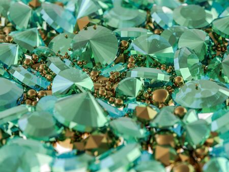 Group of diamonds on a background. 3D rendering