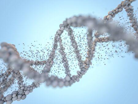 chain. Abstract scientific background. Beautiful illustraion. Biotechnology, biochemistry, genetics and medicine concept. 3D rendering 版權商用圖片