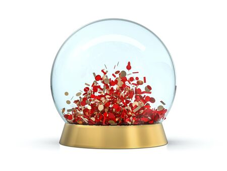 Large glass ball for predictions on background. 3D rendering
