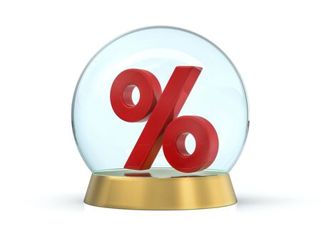 Seasonal sales background with percent discount pattern. Business illustration. 3D rendering Reklamní fotografie