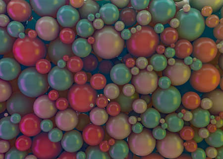 Many colorful plastic balls abstract background. 3D illustration