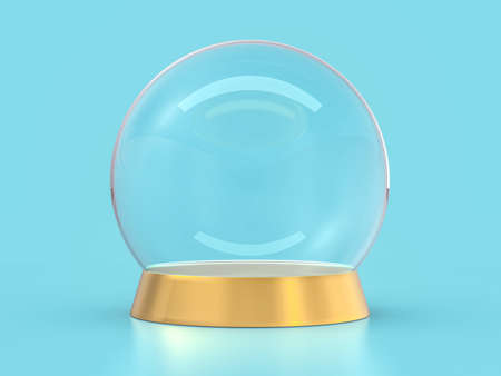 Large glass ball for predictions on background. 3D 版權商用圖片