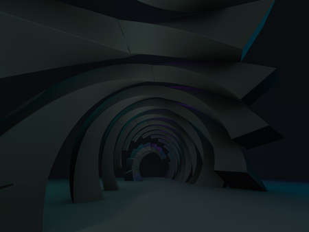 Abstract modern architecture empty background. 3D illustration