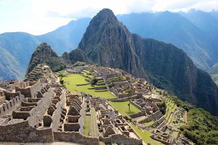 The city of Machu Picchu in Peru
