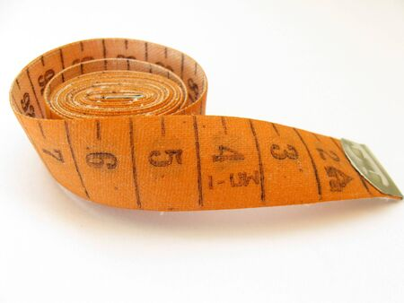 width: Measuring tape on a white background
