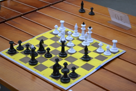 chessboard on the table during a simultaneous game Stock Photo - 21929211