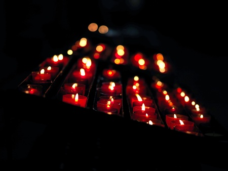 lighted: lighted candles