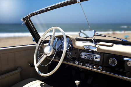 dash: Antique Car Interior