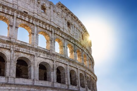 Roman Colosseum, especially in backlight Imagens