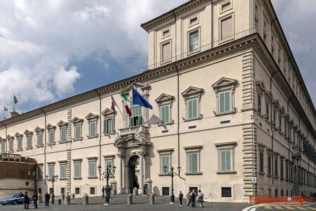 institutional: Rome, Italy - May 19, 2016: Piazza del Quirinale, the main entrance to the Quirinal Palace, the institutional headquarters and residence of the President of the Republic.