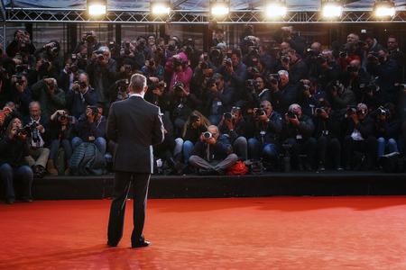 ローマの第 11 回映画祭でレッド カーペットにローマ, イタリア - 2016 年 10 月 13 日: トム ・ ハンクス 報道画像