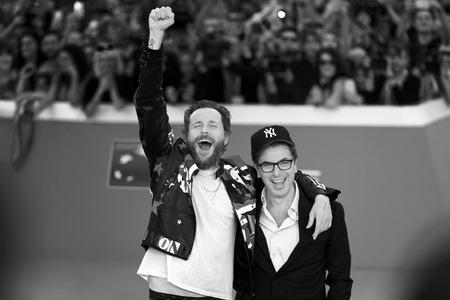 film festival: Rome, Italy - October 16, 2016. The Italian singer Jovanotti with Antonio Monda, director of the 11th International Film Festival of Rome.