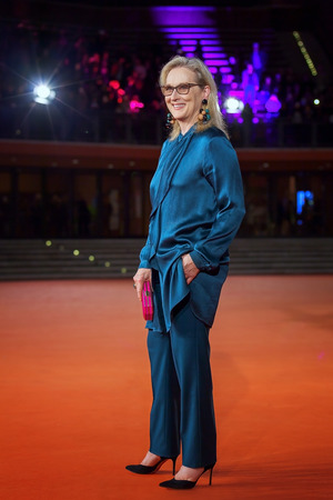 Rome, Italy - October 20, 2016. The American actress Meryl Streep on the red carpet at Rome Film Festival. At the Auditorium Parco della Musica.