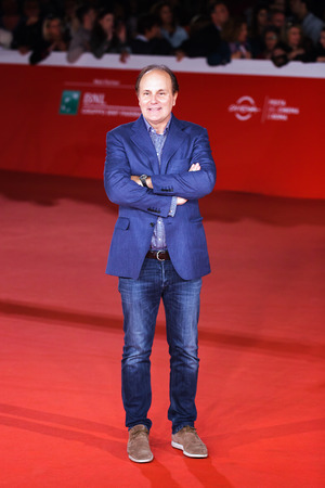 Rome, Italy - October 16, 2016: Brando Quilici walks a red carpet for The Rolling Stone Ole Ole Ole!: A trip Across Latin America during the 11th Rome Film Festival at Auditorium Parco Della Musica.