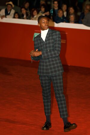 Rome, Italy - October 13, 2016. Red Carpet of the film Moonlight with actor Ashton Sanders.