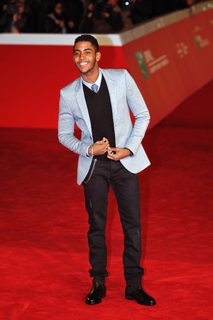 Rome, Italy - October 13, 2016. Red Carpet of the film Moonlight with actor Jharrel Jerome. Editorial